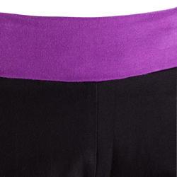 Yogashort in katoen uit biologische teelt, voor dames - 381325