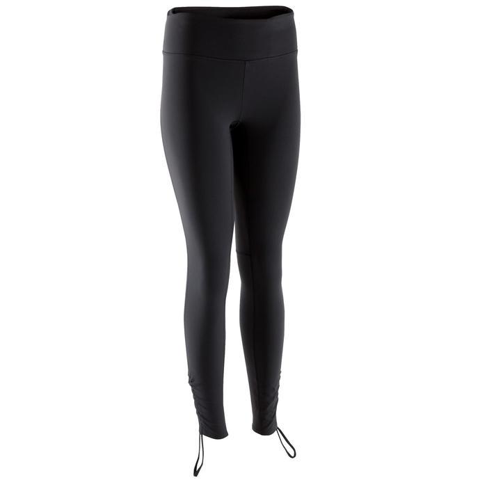 Leggings Yoga+ atmungsaktiv Damen schwarz
