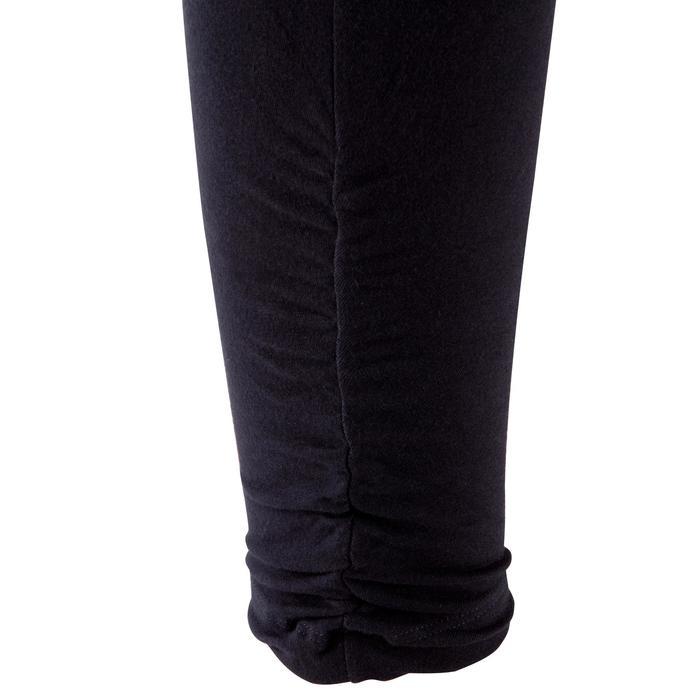 Legging yoga femme coton issu de l'agriculture biologique noir / gris chiné - 381605