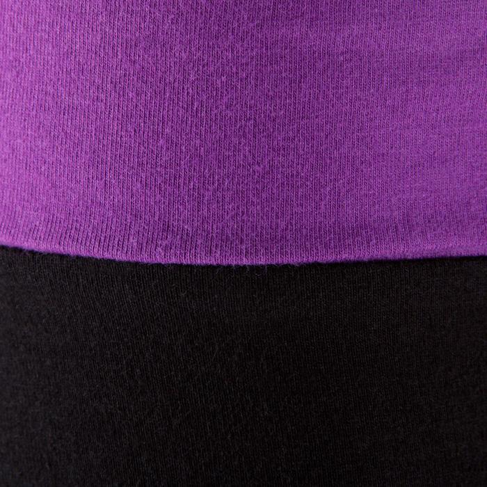 Legging yoga femme coton issu de l'agriculture biologique noir / gris chiné - 381606