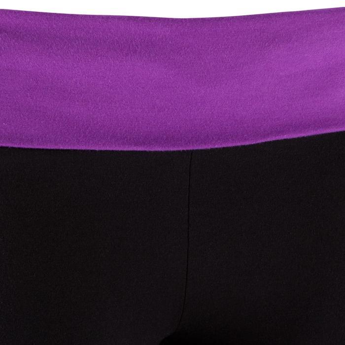 Legging yoga femme coton issu de l'agriculture biologique noir / gris chiné - 381608