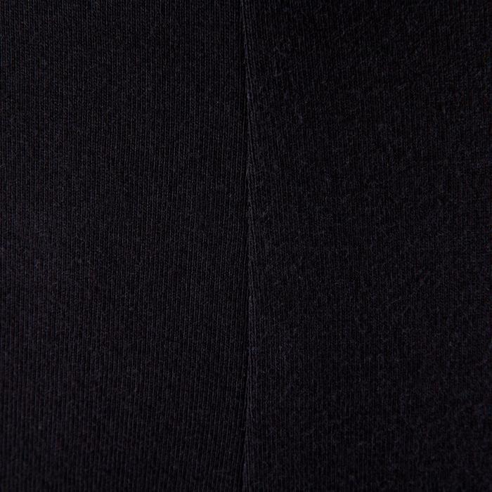 Legging yoga femme coton issu de l'agriculture biologique noir / gris chiné - 381609