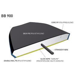 "Bodyboard 900 45"" met kern in polypropyleen en stringer + leash - 381768"
