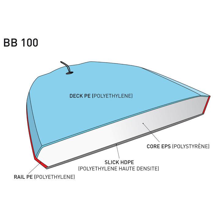 """Bodyboard 100 38"""" orange livré avec leash - 381769"""
