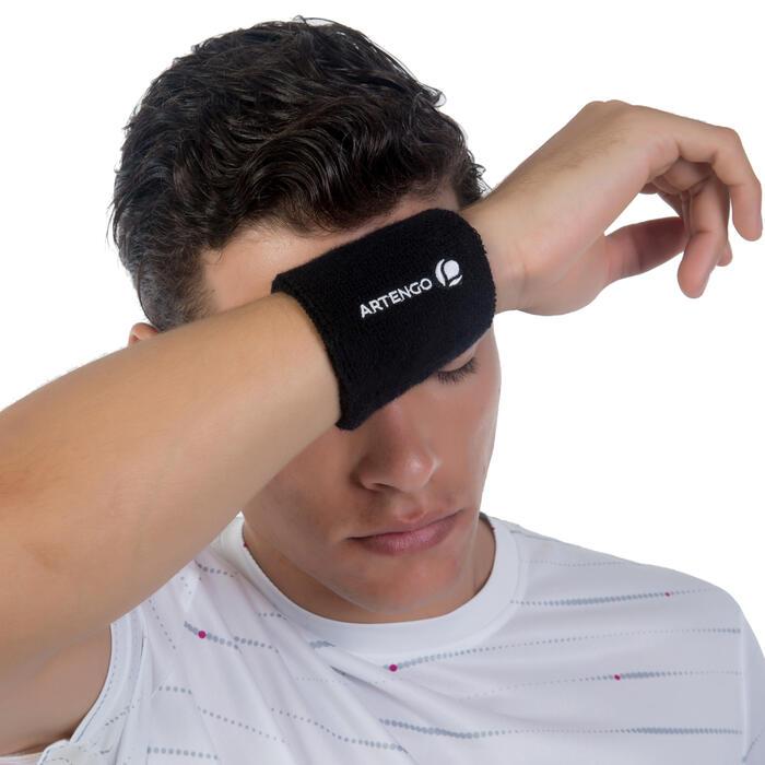 Schweißband Tennis Handgelenk schwarz