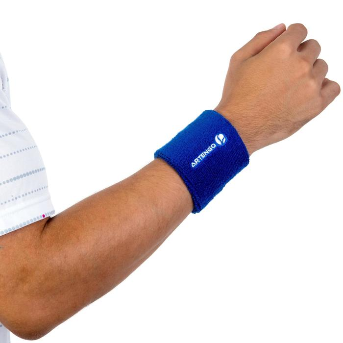 Schweissband Tennis Handgelenk blau