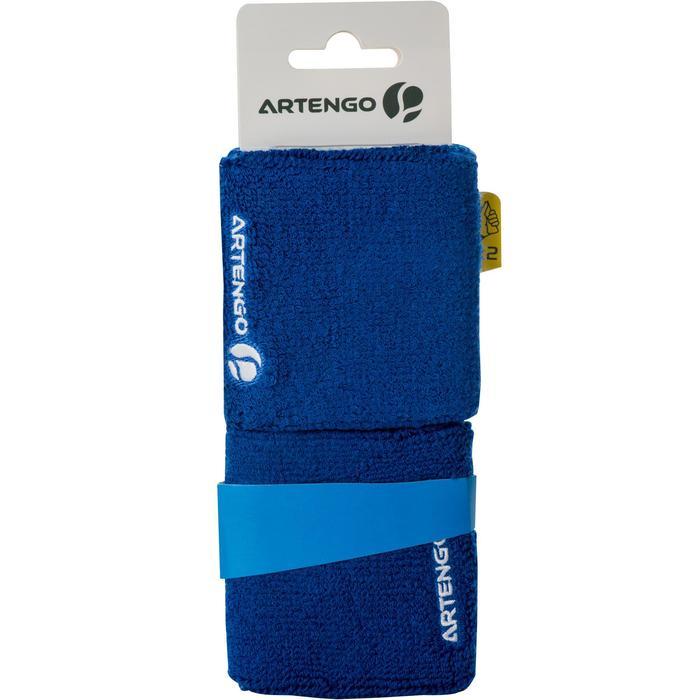 Absorberende polsband voor tennis blauw