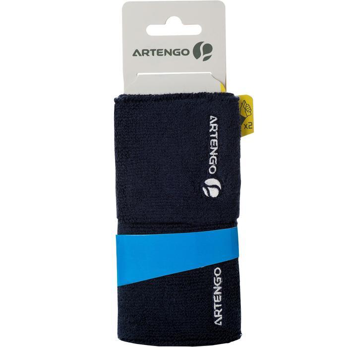 Absorberende polsband voor tennis marineblauw
