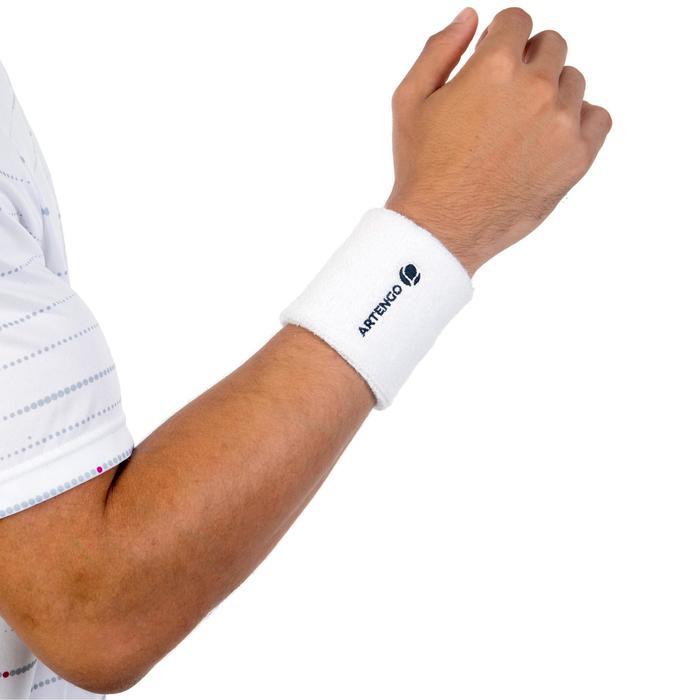 Schweißband Tennis Handgelenk weiß