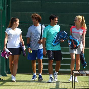 Racket padel volwassenen PR700 wit blauw