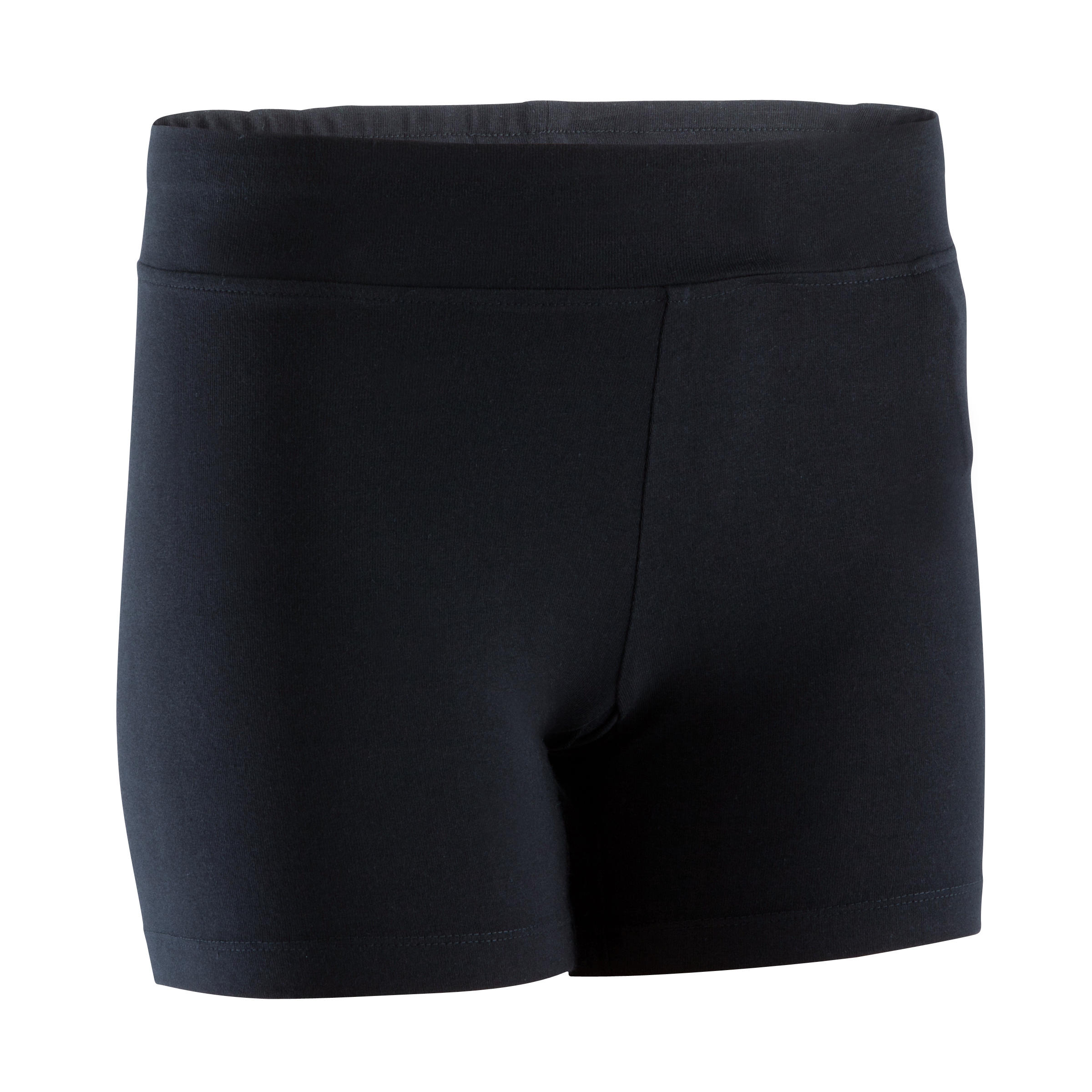 Short corto FIT+ slim, fitness mujer, negro