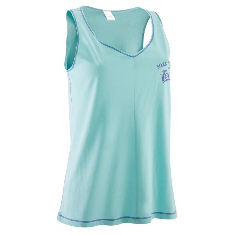 Ropa Fitness Sin De Azul Mangas Camiseta Mujer Turquesa XZTuOwPkil