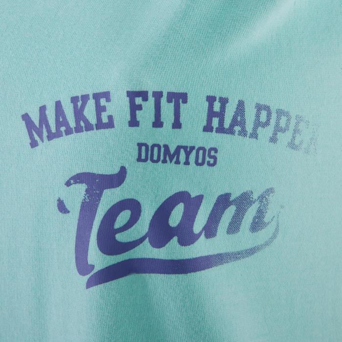 Camiseta sin mangas fitness mujer azul turquesa
