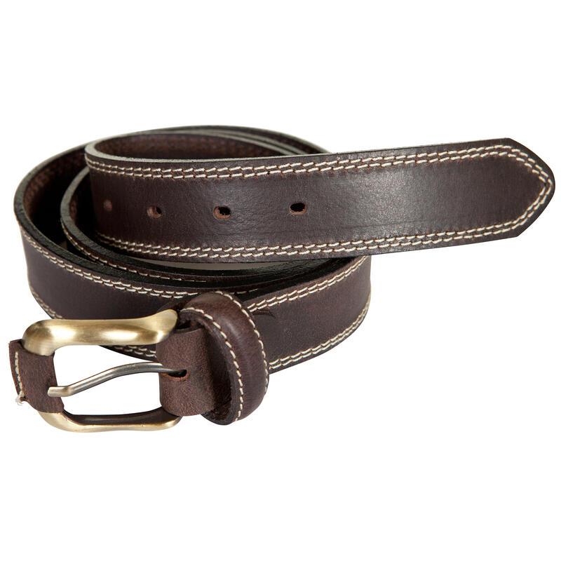Cinturón Caza Adulto Cuero Marrón