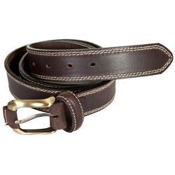 Cinturón de caza cuero marrón