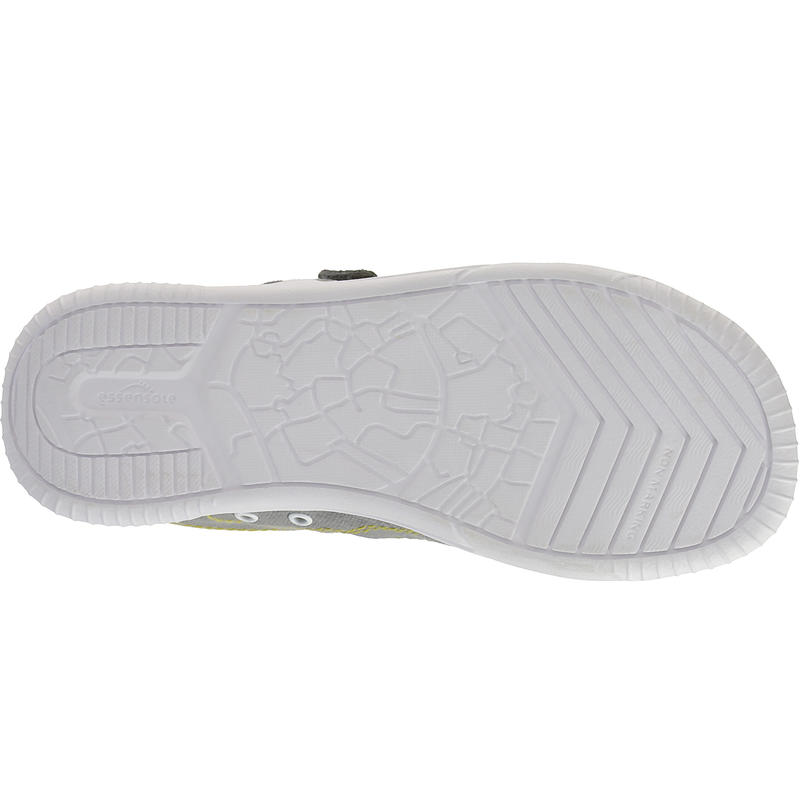 Chaussures marche enfant Jarry Canvas gris / jaune
