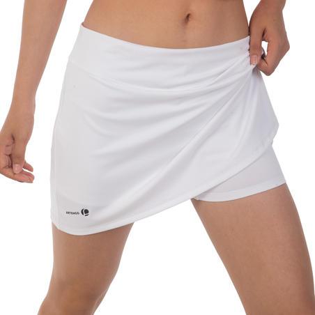 700 Women's Tennis Badminton Padel Table Tennis Squash Skirt - White