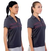 730 Women's Tennis Badminton Padel Table Tennis Squash Polo Shirt - Dark Grey