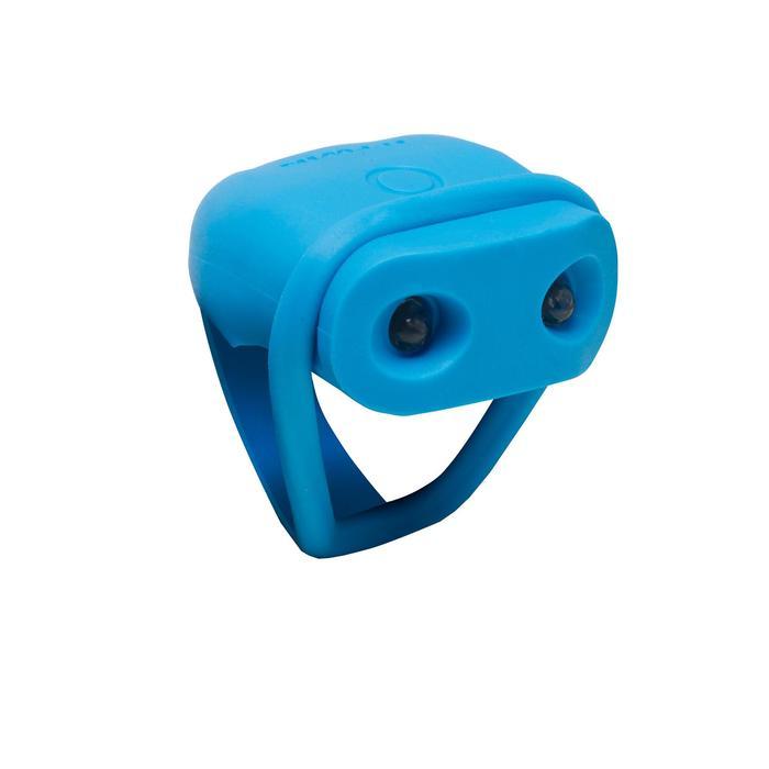 Led voorlicht voor fiets Vioo 100 blauw op batterijen