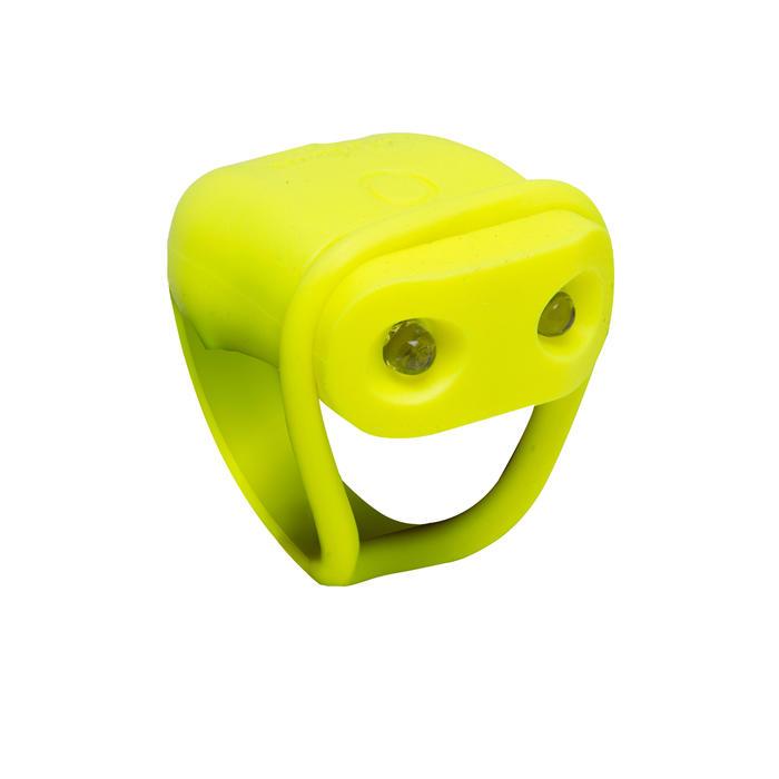 電池供電式LED前方自行車燈SL 100 - 黃色