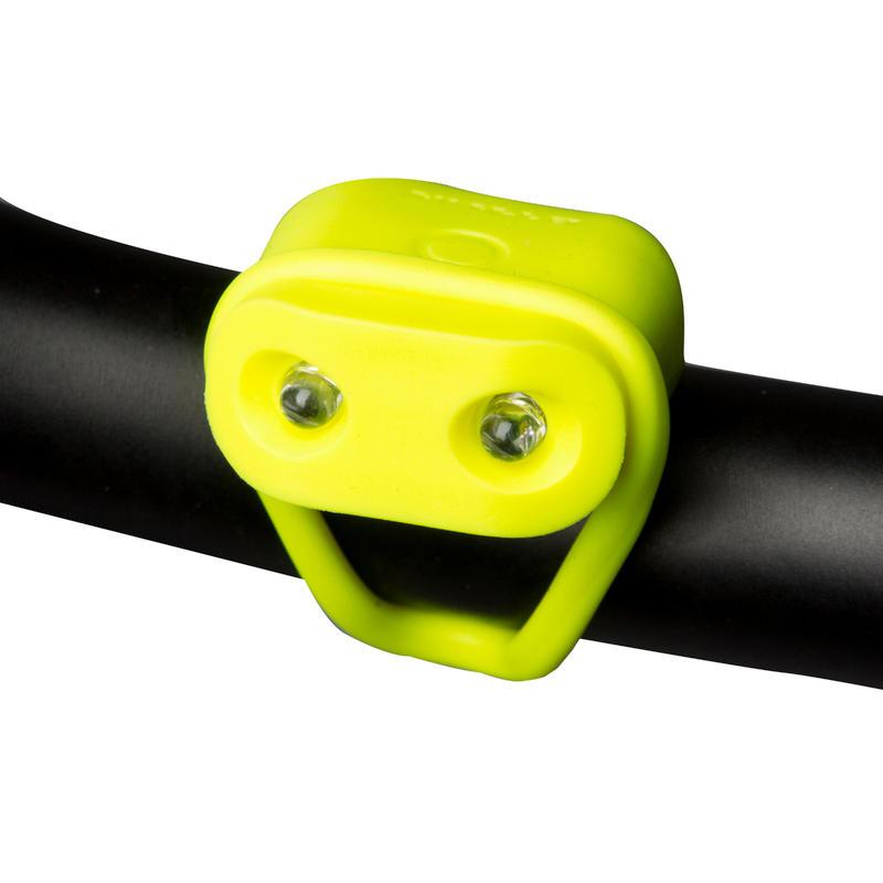 ไฟหน้าจักรยาน LED แบบใช้แบตเตอรี่รุ่น VIOO 100 (สีเหลือง)