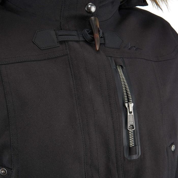 Veste 3en1 imperméable confort -10°C de trek voyage - TRAVEL 700 noire - femme