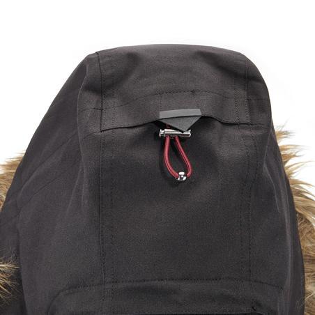 Women's waterproof 3in1 travel trekking jacket - Travel 700 -10° - Black