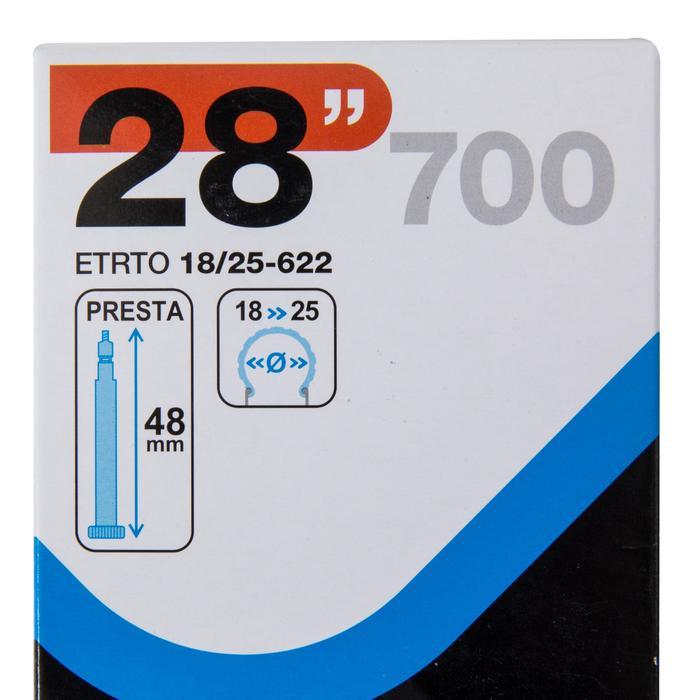 Fahrradschlauch 700 x 18/25 Prestaventil 48 mm