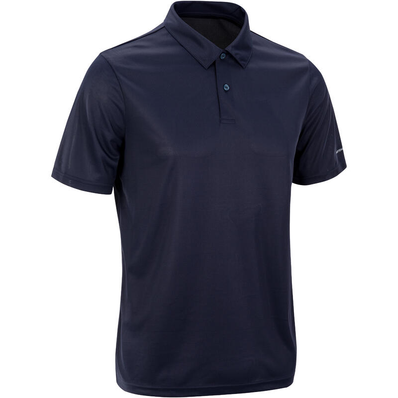 Tennispolo heren Dry 100 marineblauw