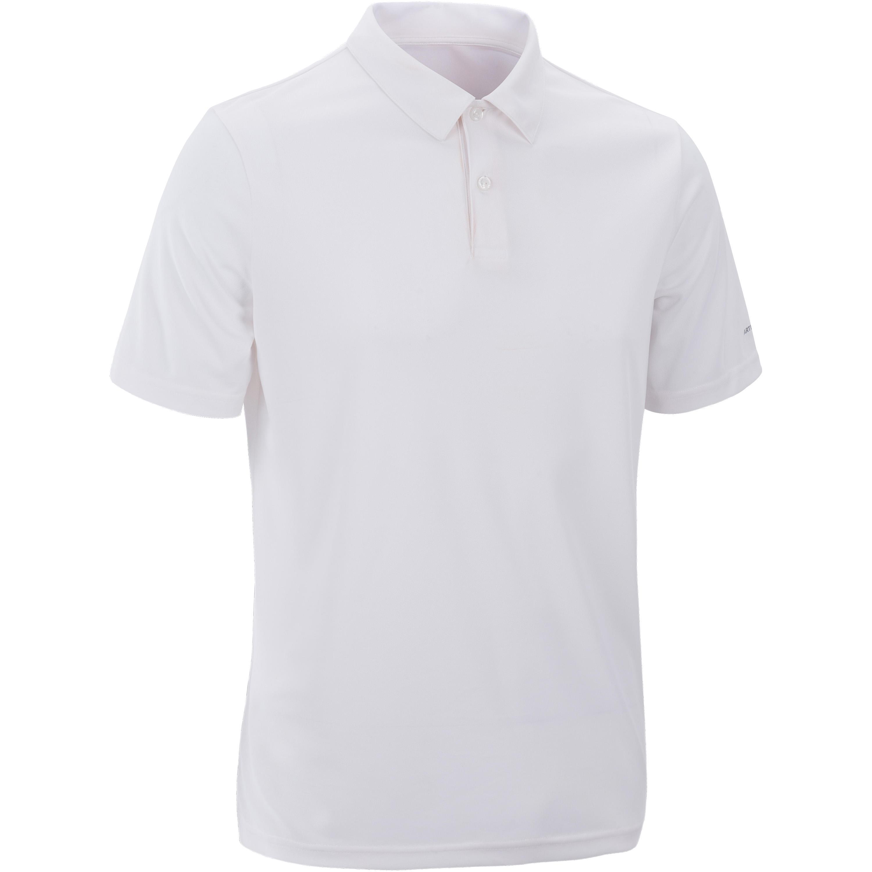 Essential 100 Tennis Badminton Padel Table Tennis Squash Polo Shirt - White