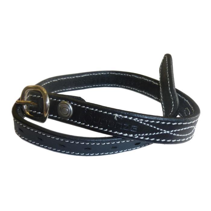 Lanières d'éperons équitation ROMEO cuir noir - 389051