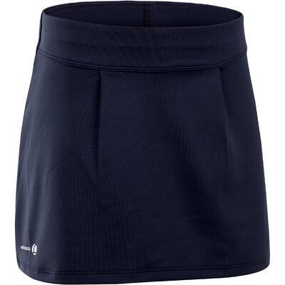 100 Girls' Tennis Skirt - Navy Blue