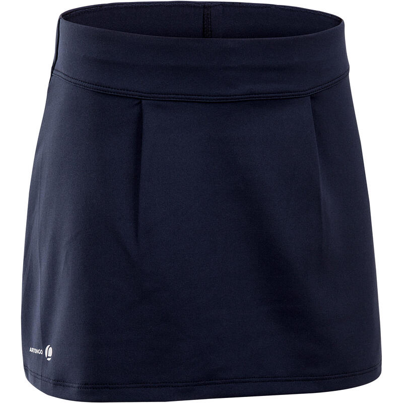 100 Girls' Tennis Skirt - Navy Blue