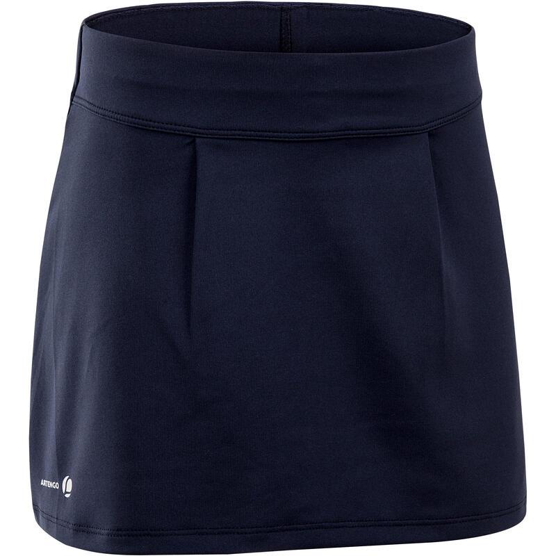 Tennisrokje 100 voor meisjes marineblauw