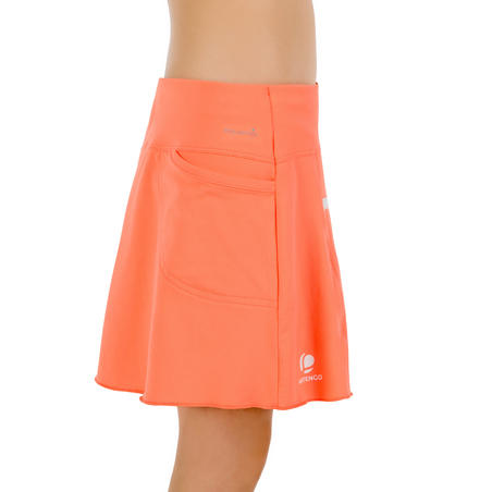 860 Girls' Tennis Badminton Padel Table Tennis Squash Skirt - Orange