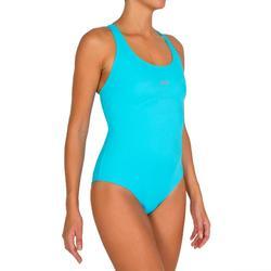 Bañador de natación una pieza para mujer Debo azul turquesa