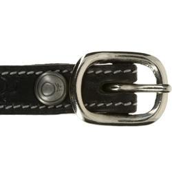 Leren spoorriempjes Romeo ruitersport zwart - 390360