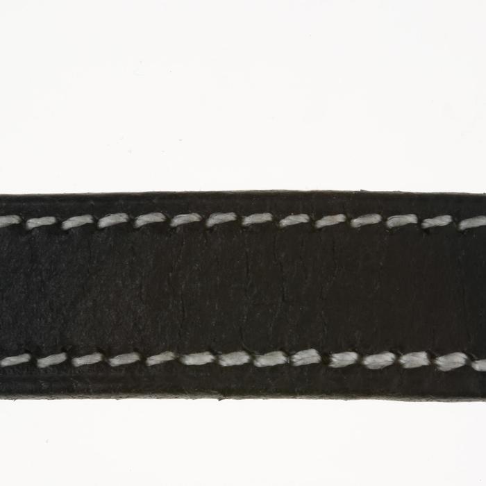 Lanières d'éperons équitation ROMEO cuir noir - 390361