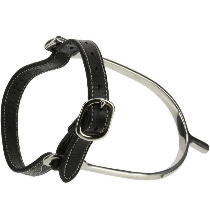 Lanières d'éperons équitation ROMEO cuir noir - 390362