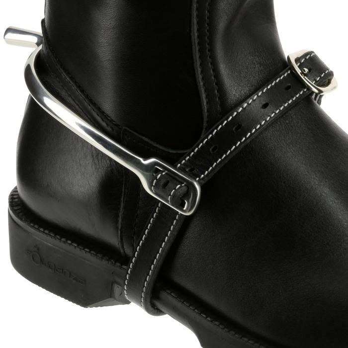 Lanières d'éperons équitation ROMEO cuir noir - 390363