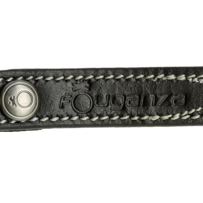 Lanières d'éperons équitation ROMEO cuir noir - 390364