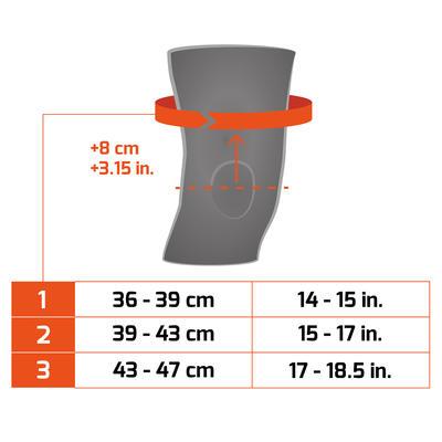 Правий/лівий чоловічий/жіночий компресійний наколінник Soft 100 – Чорний