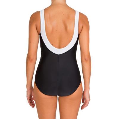 בגד ים שלם Karli מפסל גוף לנשים לתרגילי aquafitness - שחור לבן