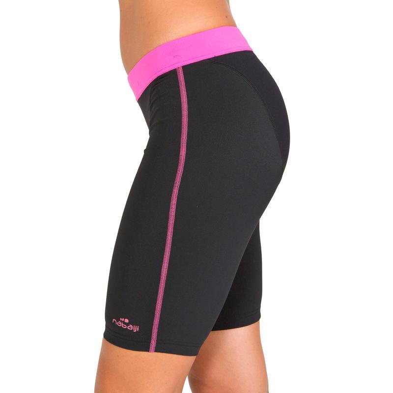 Aquabottom aquafitness long swim shorts - black pink