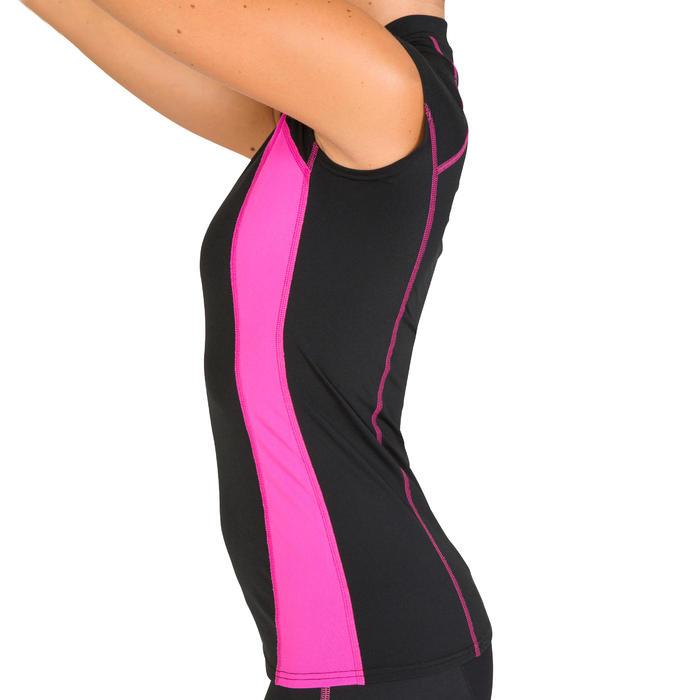 Áo bơi tập thể dục dưới nước cho nữ Aquatop - Đen/ Hồng