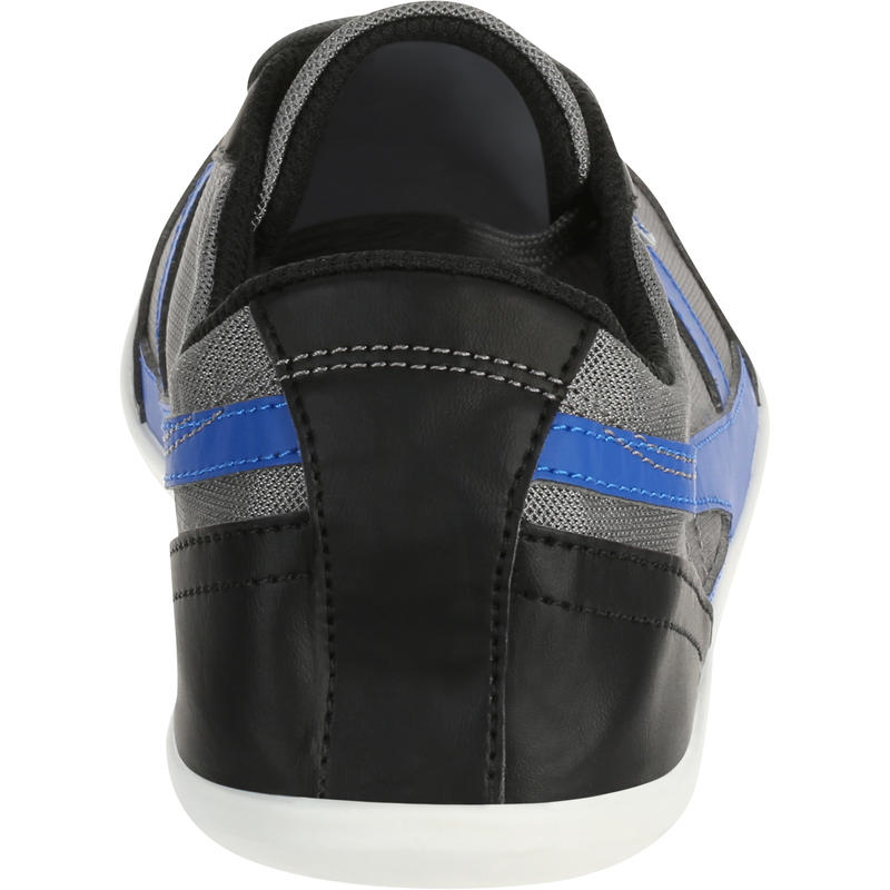 Many mesh everyday walking shoes - grey/blue/black