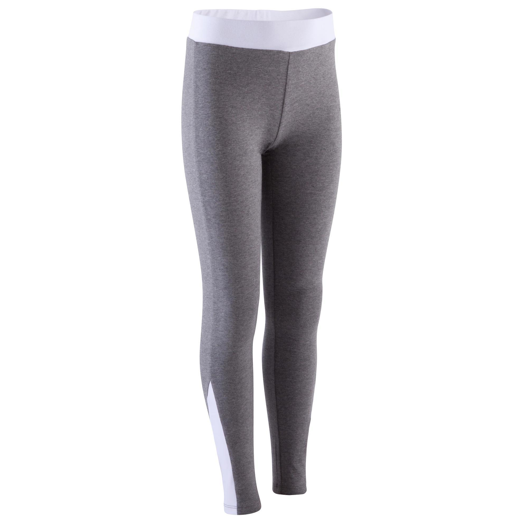legging comfort fitness fille gris domyos by decathlon. Black Bedroom Furniture Sets. Home Design Ideas