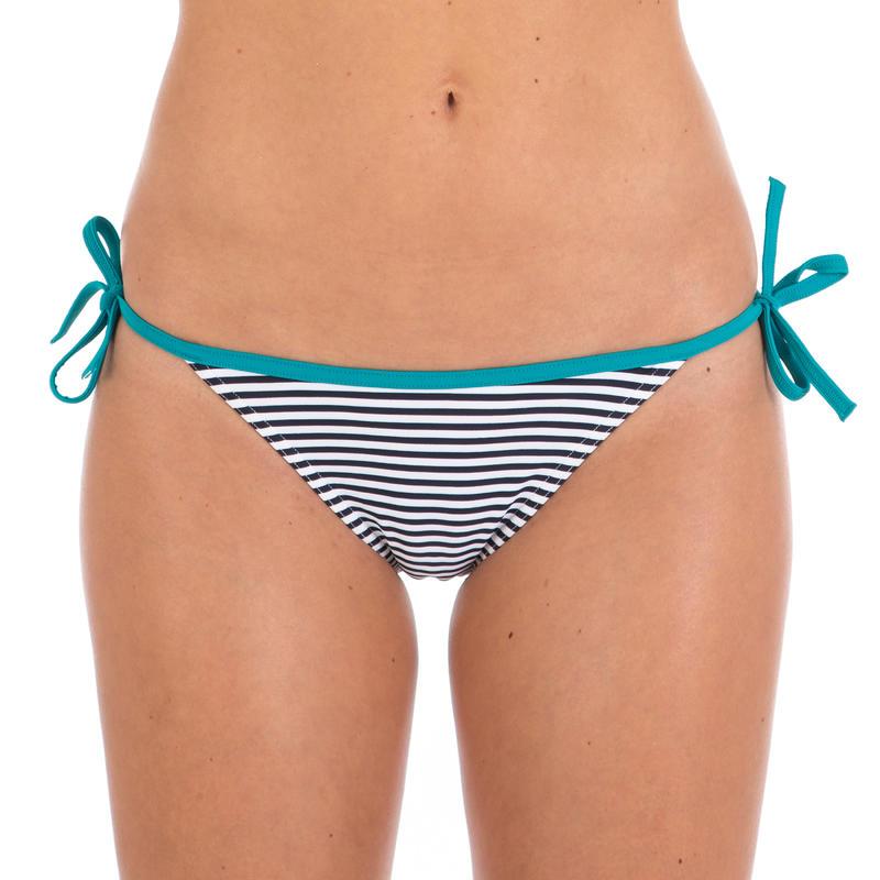 Bas de maillot de bain femme culotte nouée SOFY MAHE petites rayures