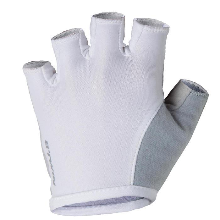 Wielrenhandschoenen RC100 dames wit