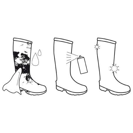 Засіб для догляду за гумовими чоботами